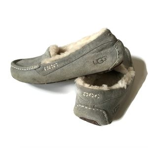 Ugg Ansley Slippers 7 Gray Slip On Shoes Shearling